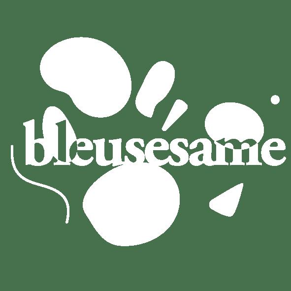 Logo Bleu Sésame Blanc