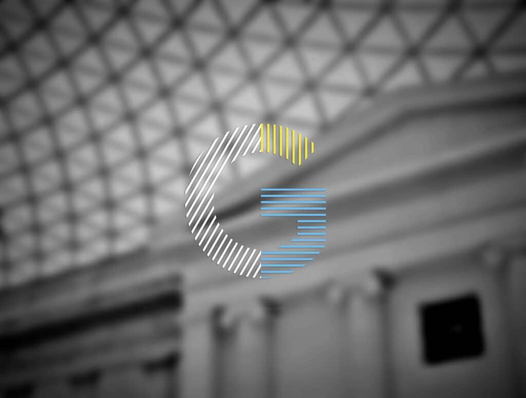 Logo geste sur fond