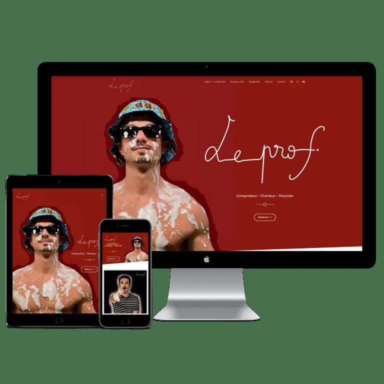 Site de l'artiste Le Prof